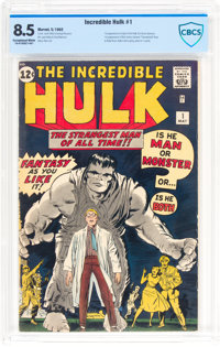The Incredible Hulk #1 (Marvel, 1962) CBCS VF+ 8.5 Exceptional White pages