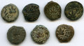 Ancients:Ancient Lots , Ancients: ANCIENT LOTS. Judaea. The Jewish War (AD 66-70). Lot ofseven (7) AE prutahs. Fine-VF.... (Total: 7 coins)
