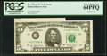Error Notes:Miscellaneous Errors, Cutting Error Fr. 1975-J $5 1977A Federal Reserve Note. PCGS Very Choice New 64PPQ.. ...