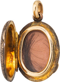 Edwin M. Stanton: Gold Locket Containing a Lock of his Hair