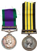 Militaria:Insignia, British Elizabeth II Campaign Medals Including the Africa General Service Medal with Kenya Clasp and General Service Medal wit... (Total: 2 Items)