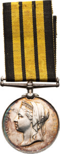 Militaria:Insignia, British East and West Africa Campaign Medal to a Soldier in the Army Hospital Corps.. ...