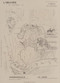 Henri de Toulouse-Lautrec (French, 1864-1901) Le Gage Lithograph on paper 11-3/4 x 9-3/4 inches (29.8 x 24.8 cm) (ima