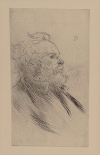 Henri de Toulouse-Lautrec (French, 1864-1901) Charles Maurin, 1898 Drypoint and etching on paper, 2nd edition 6-5/8 x