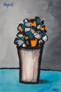 Paintings:Contemporary   (1950 to present), Giuseppe Napoli (Italian, 1900-1999). Flower Bouquet, 1962. Acrylic on paper. 14 x 9-1/4 inches (35.6 x 23.5 cm). Signed...