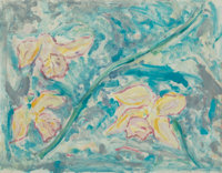 Ed Baynard (b. 1940) Untitled, from Monotype series, 1981 Monotype with handcoloring on paper 28-1/2 x 36-3/4 inc