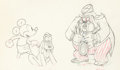 Animation Art:Production Drawing, Society Dog Show Mickey Mouse, Pluto, and Judge ProductionDrawing (Walt Disney, 1939). ...