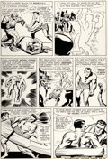 Original Comic Art:Panel Pages, Jack Kirby and George Roussos (as Geo. Bell) Fantastic Four #27 Story Page 19 Sub-Mariner Original Art (Marvel, 19...