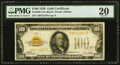 Small Size:Gold Certificates, Fr. 2405 $100 1928 Gold Certificate. PMG Very Fine 20.. ...