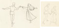 Animation Art:Limited Edition Cel, Sleeping Beauty Briar Rose and Phillip Animation Drawings Group of 2 (Walt Disney, 1959)....