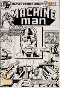 Original Comic Art:Covers, Jack Kirby and Bob Layton Machine Man #9 Cover Original Art (Marvel, 1978)....