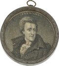Political:Tokens & Medals, Andrew Jackson: Campaign of 1828 Pewter-Rim Mirror.. ...