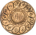 "Political:Inaugural (1789-present), George Washington: ""Linked States"" GW Inaugural Button.. ..."