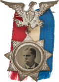 """Political:Ferrotypes / Photo Badges (pre-1896), Winfield Scott Hancock: Choice and """"Superb"""" Ferrotype Badge...."""