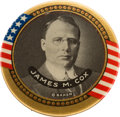 "Political:Pinback Buttons (1896-present), James M. Cox: Exceedingly Rare and Desirable Large Colorful 1 3/4"" Picture Pin.. ..."
