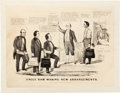 Political:Posters & Broadsides (pre-1896), Abraham Lincoln: 1860 Currier & Ives Cartoon. ...