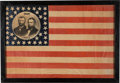Political:3D & Other Display (pre-1896), Grant & Colfax: Spectacular Large 1868 Jugate Campaign Flag.. ...