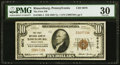 National Bank Notes:Pennsylvania, Rimersburg, PA - $10 1929 Ty. 1 The First NB Ch. # 6676 PMG Very Fine 30.. ...