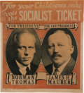 Political:Posters & Broadsides (1896-present), Thomas & Maurer: Unique Socialist Party Jugate Poster....