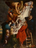 Paintings, Louis Farasyn (Belgian, 1822-1889) After Peter Paul Rubens. Descent from the Cross, 1854. Oil on canvas. 56-1/2 x 42-1/2...