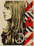 Prints & Multiples:Print, Shepard Fairey (b. 1970). Fragile Peace, 2017. Screenprint in colors on cream speckled paper. 24 x 18 inches (61 x 45.7 ...