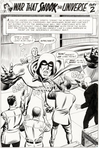 "Murphy Anderson Showcase #60 The Spectre Part 2 ""War That Shook the Universe!"" Original Art Group of 10 Consec..."