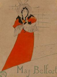 Henri de Toulouse-Lautrec (French, 1864-1901) May Belfort, 1895 Lithograph in colors on wove paper, fourth state (of f...