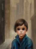 Fine Art - Painting, American, Margaret Keane (American, b. 1927). Waiting in San FranciscoFog. Oil on canvas. 24 x 18 inches (61.0 x 45.7 cm). Signed...