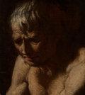 Paintings:Antique  (Pre 1900), Manner of Luca Giordano (Italian, 1634-1705). Portrait of Pensive Man. Oil on canvas. 16 x 14 inches (40.6 x 35.6 cm). ...