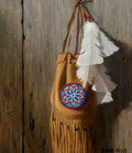 Paintings:Contemporary   (1950 to present), Richard Weers (American, 20th century). Beaded Bag with Feathers, 1995. Oil on board. 20 x 16 inches (50.8 x 40.6 cm). S...