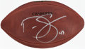 Autographs:Footballs, 2006-10 Darren Sproles Signed Game Issued San Diego Chargers Football....