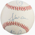 Autographs:Baseballs, All-Time Leaders Multi-Signed Baseball (4 Signatures)....