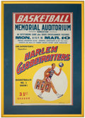 Basketball Collectibles:Others, 1958 Harlem Globetrotters Broadside....
