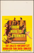 Movie Posters:Academy Award Winners, From Here to Eternity (Columbia, 1953). Very Fine-.