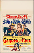 "Movie Posters:Western, Garden of Evil & Other Lot (20th Century Fox, 1954). VeryFine-. Window Cards (2) (14"" X 22""). Western.. ... (Total: 2 Items)"