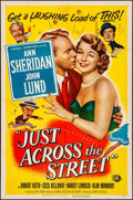 Movie Posters:Comedy, Just Across the Street (Universal International, 1952). Fo...