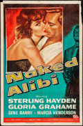 "Movie Posters:Film Noir, Naked Alibi (Universal International, 1954). Folded, Fine+. One Sheet (27"" X 41""). Film Noir. From the Collection of Frank..."