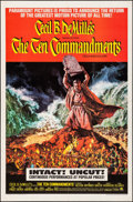 Movie Posters:Drama, The Ten Commandments (Paramount, R-1966). Folded, Very Fin...