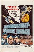 """Movie Posters:Science Fiction, Assignment Outer Space (Four Crown, 1962). Folded, Very Fine-. One Sheet (27"""" X 41""""). Science Fiction.. ..."""