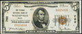 National Bank Notes:Maine, Waterville, ME - $5 1929 Ty. 1 The Ticonic NB Ch. # 762 Very Fine.....