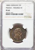 German States:Prussia, German States: Prussia Pair of Certified Multiple Mark IssuesNGC,... (Total: 2 coins)