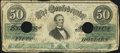 Confederate Notes:1862 Issues, T50 $50 1862 PF-4 Cr. 351 Fine.. ...