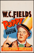 "Movie Posters:Comedy, Poppy (Paramount, 1936). Fine/Very Fine. Window Card (14"" X 22"").Comedy.. ..."
