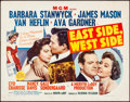 Movie Posters:Drama, East Side, West Side (MGM, 1950). Rolled, Fine+. H...