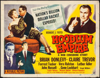 "Hoodlum Empire (Republic, 1952). Rolled, Fine. Half Sheets (2) (22"" X 28"") Styles A & B. Film Noir..."