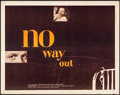 Movie Posters:Film Noir, No Way Out (20th Century Fox, 1950). Rolled, Fine+.