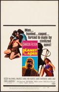 Movie Posters:Science Fiction, Planet of the Apes (20th Century Fox, 1968). Folded, Fine/...