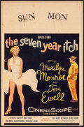 Movie Posters:Comedy, The Seven Year Itch (20th Century Fox, 1955). Fine/Very Fi...