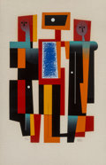 Prints & Multiples:Print, Carlos Mérida (1891-1984). Musical Variations, 1976. Serigraph in colors wove paper. 33 x 23 inches (83.8 x 58.4 cm) (sh...