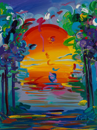 Peter Max (American, b. 1937) Better World III, 1993 Acrylic on canvas 24 x 18 inches (61.0 x 45